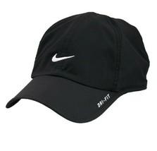 NEW! RARE Black/White NIKE Men-Women's Tennis Cap DRI-FIT Run Hat Feathe... - $140.97