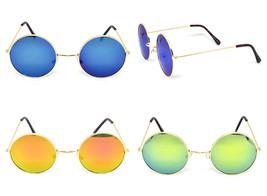 Vintage Retro Mirror Round Sun Glasses Goggles Steampunk Punk Sunglasses... - $11.11