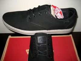 Vans Mens Ludlow + Heavy Canvas Black Smoke Grey Skate Casual shoes Size... - $49.49