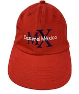 Cozumel Mexico Red Adjustable Adult Baseball Ball Cap Hat - $12.86