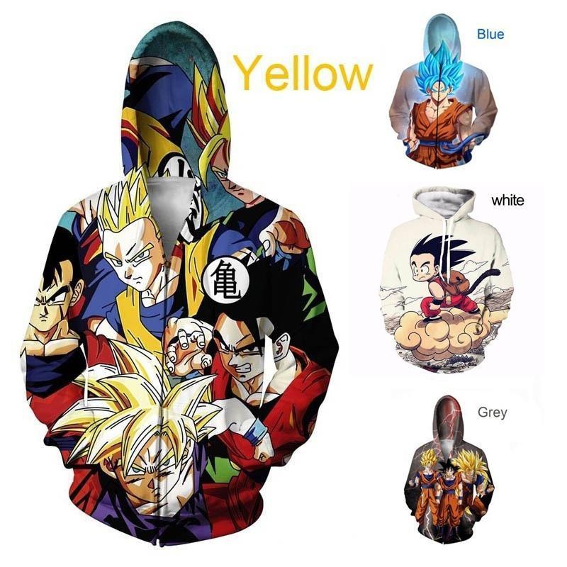 31d6c7a59010 Anime Dragon Ball Z Pocket Hooded Sweatshirts Cute Kid Goku 3D ...