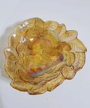 Indiana Glass Marigold 'Loganberry' Carnival Glass Bon Bon Candy Nut Dish vntg - $14.00