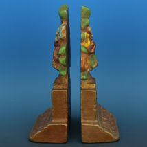 Vintage Albany Foundry Cast Iron Bookend Matched Doorstop Flower Urn Pair image 3