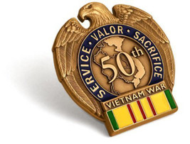 NEW Vietnam War 50th Anniversary in-Theater Veteran Commemorative Insignia Pin - $13.99