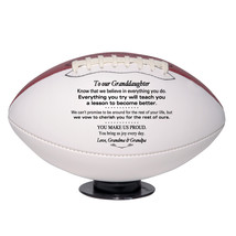 Custom Regulation Size Football To Our Granddaughter Birthday, Christmas Gift - $59.95