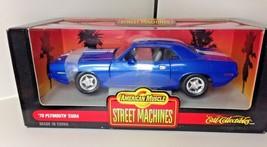 Ertl blue 1970 Cuda Street Machines  DIECAST SCALE 1:18 - $24.99