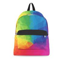 Rainbow Geometric Shapes Backpack - $69.23 CAD