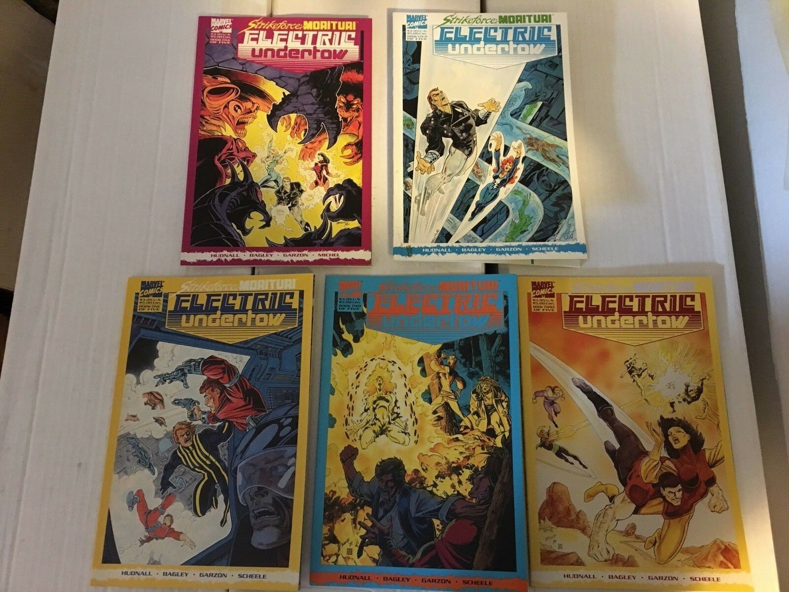 Strikeforce Morituri Electric Underflow #1 - 5 Marvel Comic Book Set 1989-90 NM
