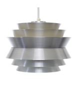 TRAVA, aluminum pendant light by Carl Thore, Granhaga, 1967.  - $314.00