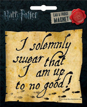 Harry Potter I Solemnly Swear That I Am Up To No Good Car Magnet, NEW UN... - $3.99