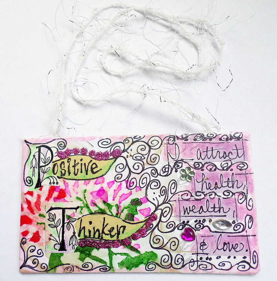 Motivational Healing Words Art Mini Hanging Mixed Media