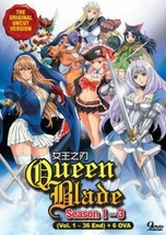 Queen's Blade (Season 1 - 3) +Bonus 6 OVA SHIP FROM USA