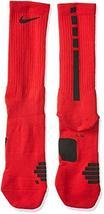 Nike Elite Basketball Crew Socks University Red/Black Size Large - $18.33