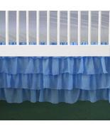 Multi Tiered Blue Chiffon Ruffled Crib Skirt / Mini Crib Skirt - $39.99+