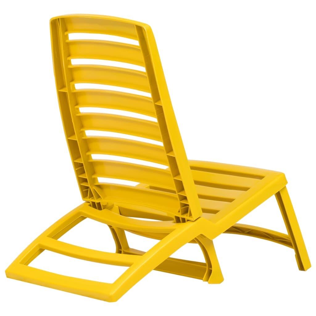 vidaXL 4x Folding Beach Chairs Plastic Beach Seat Outdoor Chair Multi Colors image 9