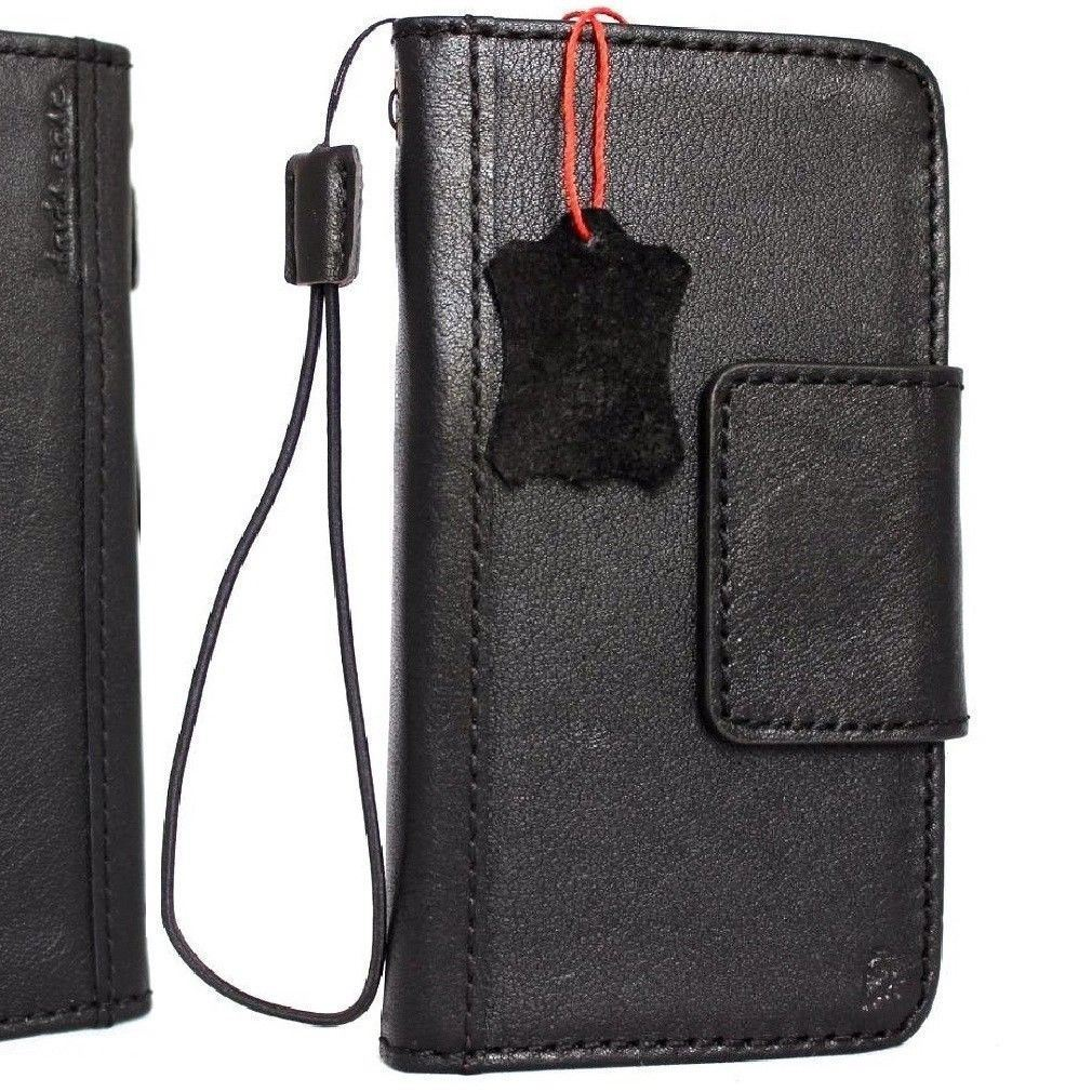 Genuine Leather Case for Samsung Galaxy Note 8 book Wallet black magnet cover uk for sale  USA