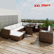 Patio Furniture Clearance Sets Outdoor Lounge 28pc Rattan Sectional Wick... - $1,347.03