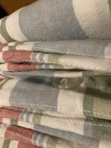 Pottery Barn  Multicolor Striped Linen/Cotton duvet Cover F/ Queen 2 Euro Shams - $118.80