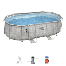 """Coleman Power Steel 16' x 10' x 48"""" Oval Above Ground Pool Set - Ready to Ship image 2"""