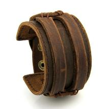Double Strap Leather Cuff Bracelet - $17.00