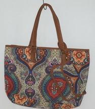 Howards Product Number 68985 Large Shoulder Bag Multi Color Paisley Print image 1
