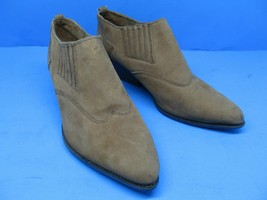 Zodiac Womens Brown Suede Western Ankle Booties Size US 8 M Very Lightly... - $25.58