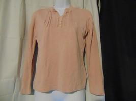 Eddie Bauer Blouse Shirt Silk Blend Pink SOFT Women's Size M - $14.85