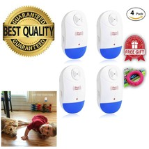 4PCS Ultrasonic Pest Repeller Control Electronic Insects Roaches Flies A... - $78.56