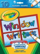 Crayola Washable Window Markers, Craft Supplies, Drawing Gift for Boys a... - $14.82
