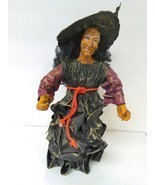 Witch Halloween home decoration spooky creepy handmade paper - $19.00