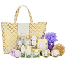 Spa Luxetique Lavender Spa Gift Baskets for Women, Luxurious 15pc Gift Baskets w