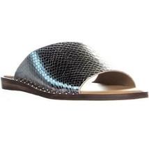 Franco Sarto Rye Flat Slide Sandals, Silver - $27.99