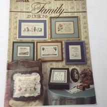 Family Cross Stitch Pattern Book Leisure Arts 25 Designs Terrie Lee Steinmeyer - $9.74