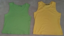 08cb39e9373cc4 2 Chico's Ribbed Tank Tops LOT Chico's Size