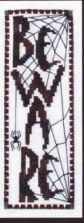 Primary image for Beware halloween fall cross stitch chart Turquoise Graphics