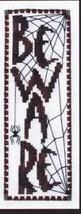 Beware halloween fall cross stitch chart Turquoise Graphics - $8.10