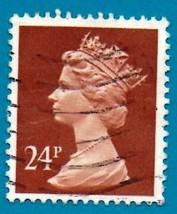 1989 Used Great Britain Stamp -  24p - Queen Elizabeth II - Scott #MH125 - $1.99