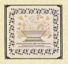 Margaret Ann Klinedienst 1830 sampler cross stitch chart Queenstown Samp... - $18.00