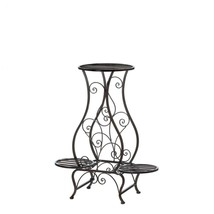 Hourglass Iron Plant Stand For Three Plants - $80.58