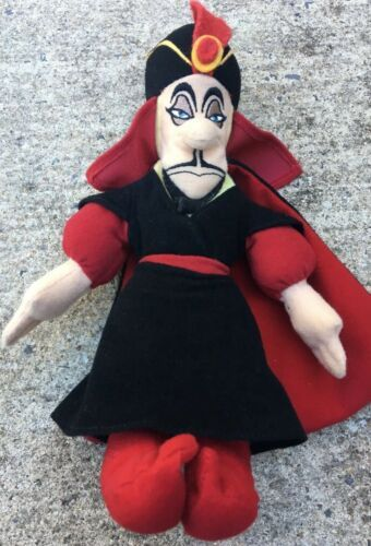 "Aladdin Jafar Plush Beanbag 8"" Disney Store Villain Figure Stuffed Doll Toy"