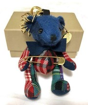 BURBERRY Authentic Thomas Bear Vintage Check Key Holder Ring Bag Charm Used - $304.73 CAD