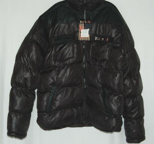 Rich N Fly RF1010 Black 3XL Puffy Coat Heavy Duty Zipper