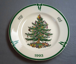 Spode Christmas Tree Year Plate 1993 Made in England - $42.00