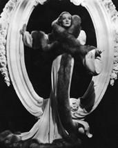 Marlene Dietrich Dramatic Vintage Glamour Pose In Fur Stole 16X20 Canvas... - $69.99