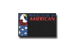 """Proud to be an American Door Mat by Plasticolor -  8283 Welcome Mat 15"""" ... - $4.99"""