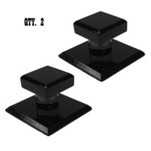 "Black Acrylic Stick-On Mirror Knob - 1-3/4"" Square - Pack of 2 - $14.95"