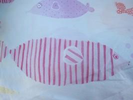 Pottery Barn Kids Funny Fish Standard Pillowcase Pink Orange Yellow Cotton - $15.00