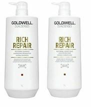 Goldwell Dualsenses - Rich Repair Shampoo Conditioner Duo 1 Liter Each - $54.99