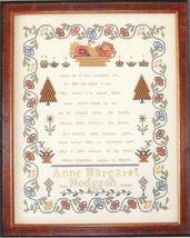Anne Margaret Hodgson 1818 sampler cross stitch chart Queenstown Sampler... - $18.00