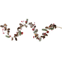 "39.5"" Holiday Moments Pine Cones Berry Winter Christmas Twig Garland - tkcc - $33.95"